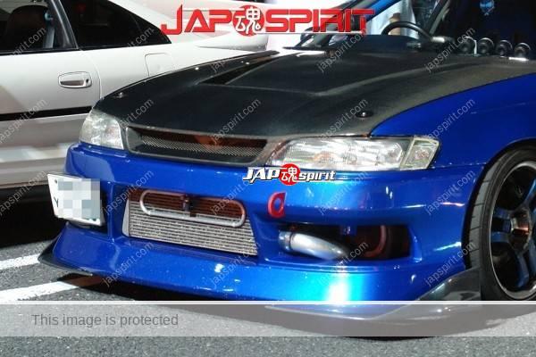 TOYOTA Mark II 7th x90, Street drift style, blue color, GT wing, Aero spoiler (2)