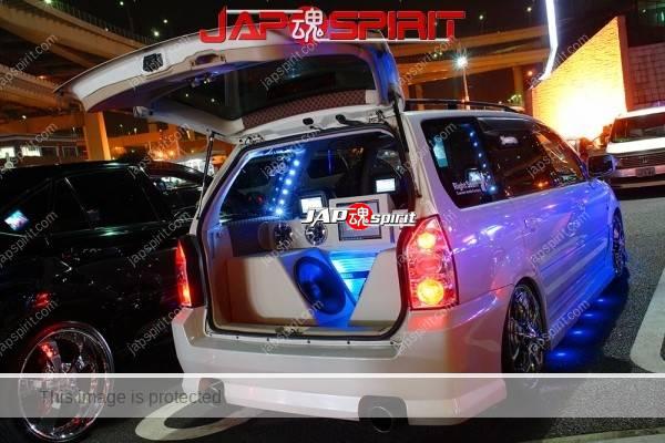 TOYOTA Probox, Sotomuki sound car, beautirul blue lighting and artistic AV system (2)