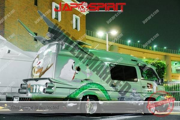 NISSAN Caravan 3rd, Vanning style with air brush, Manga Nippon mukashi banashi (Anime folktale from Japan) (5)