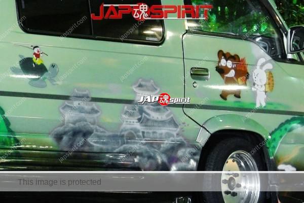NISSAN Caravan 3rd, Vanning style with air brush, Manga Nippon mukashi banashi (Anime folktale from Japan) (2)