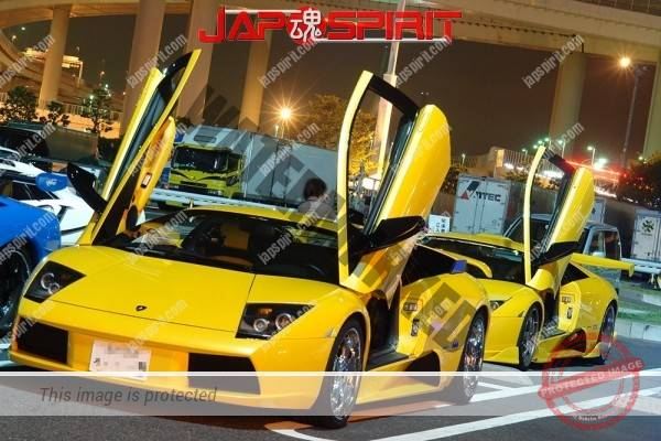 Lamborghini mid night party, Diablo & Murcielago, Beautiful lighting is very exciting & super cool! (17)