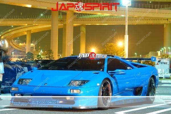 Lamborghini mid night party, Diablo & Murcielago, Beautiful lighting is very exciting & super cool! (16)