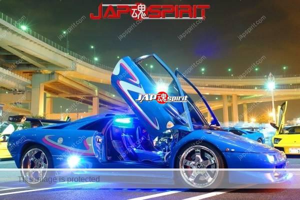 Lamborghini mid night party, Diablo & Murcielago, Beautiful lighting is very exciting & super cool! (15)