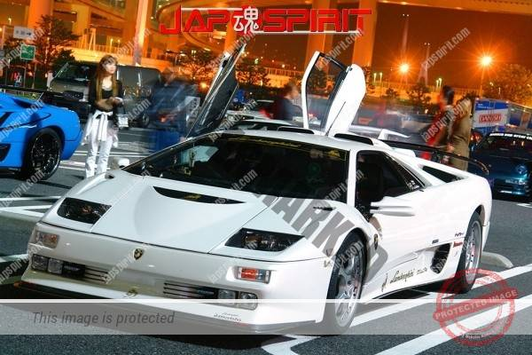 Lamborghini mid night party, Diablo & Murcielago, Beautiful lighting is very exciting & super cool! (14)
