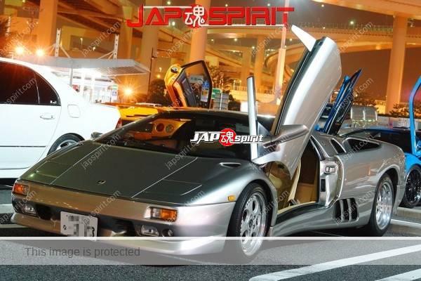 Lamborghini mid night party, Diablo & Murcielago, Beautiful lighting is very exciting & super cool! (12)