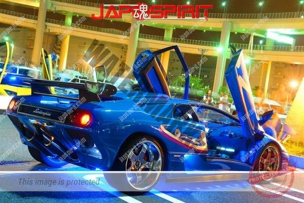 Lamborghini mid night party, Diablo & Murcielago, Beautiful lighting is very exciting & super cool! (11)