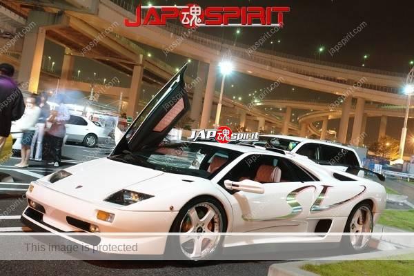 Lamborghini mid night party, Diablo & Murcielago, Beautiful lighting is very exciting & super cool! (9)
