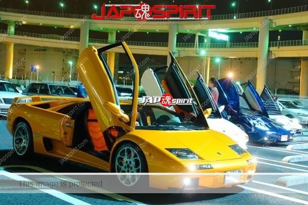 Lamborghini mid night party, Diablo & Murcielago, Beautiful lighting is very exciting & super cool! (7)