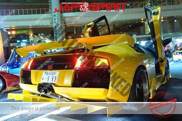 Lamborghini mid night party, Diablo & Murcielago, Beautiful lighting is very exciting & super cool! (5)