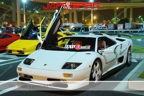 Lamborghini mid night party, Diablo & Murcielago, Beautiful lighting is very exciting & super cool! (3)