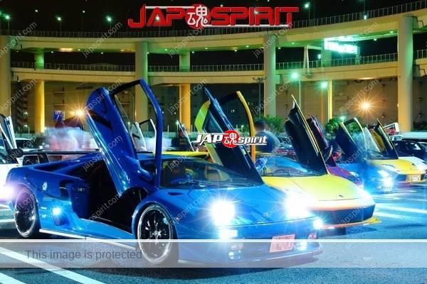 Lamborghini mid night party, Diablo & Murcielago, Beautiful lighting is very exciting & super cool! (2)