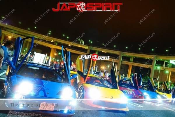 Lamborghini mid night party, Diablo & Murcielago, Beautiful lighting is very exciting & super cool! (1)