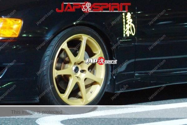 TOYOTA Chaser x100, Hashiriya style, black color and gold wheel (1)