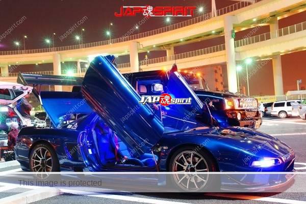 HONDA NSX, Spokon style, scissor door, GT-wing, Blue body & blue room lighting (1)
