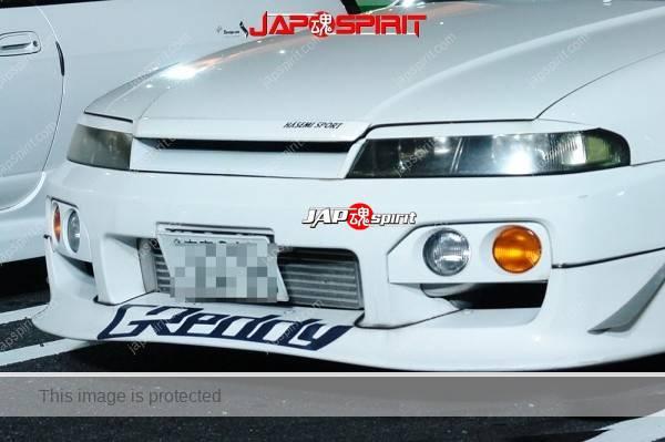 NISSAN Skyline R33, Hashiriya style, built in roll bar, Sporty front bumper spiler, white body (1)