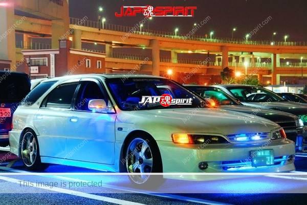 HONDA Accord wagon, Spokon style with blue lighitng, white body (2)