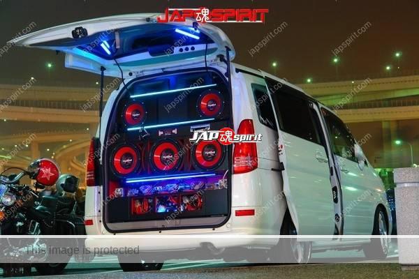 Photo of NISSAN SERENA, Sotomuki sound car, 5 Big speaker with blue light