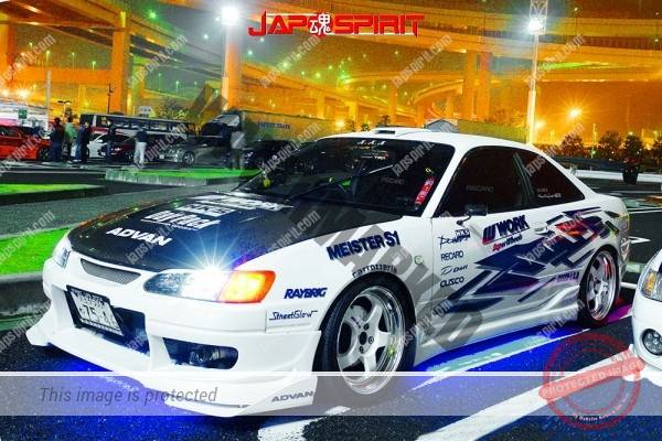 Photo of Toyota Corolla Levin AE110, Spokon style, blue lighting, vnylgraphic