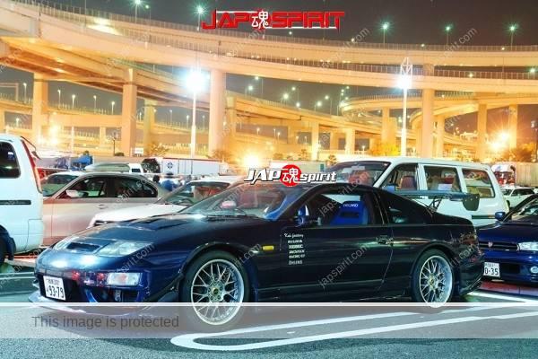 Fairlady (Z car) 4th Z32, Spokon style, Dark blue color, Sporty front fender & GT wing (1)