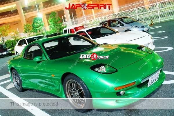 Photo of MAZDA RX7 FD, Spokon style with Chevrolet Corvette C5's tail lamp, green body color