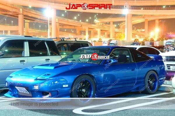 Photo of NISSAN 180, Spokon style, Retractable headlights & aero bonnet, metalic blue color