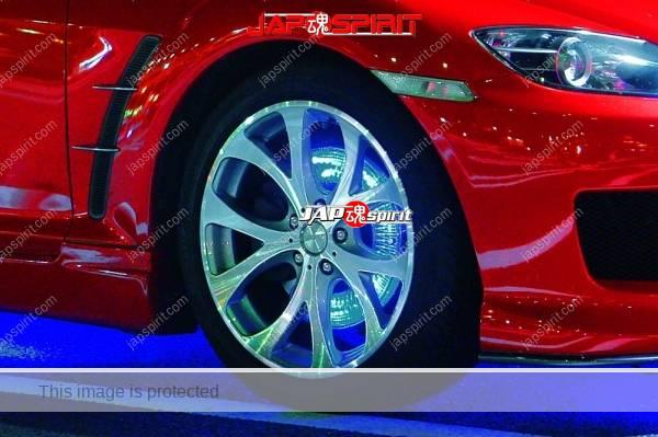 MAZDA RX8, Spokon style, red color, blue lighting under body & disk brake (2)