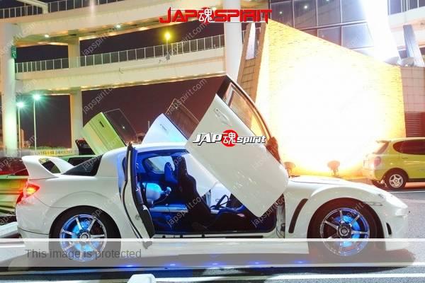 MAZDA RX8, Spokon style, Scissor door, special aero bonnet, blue lighting (1)