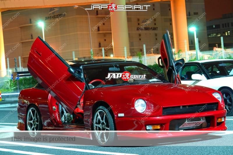 NISSAN 180 swap with Z car S30's front, Spokon style, scissor door and lighting, red color (3)