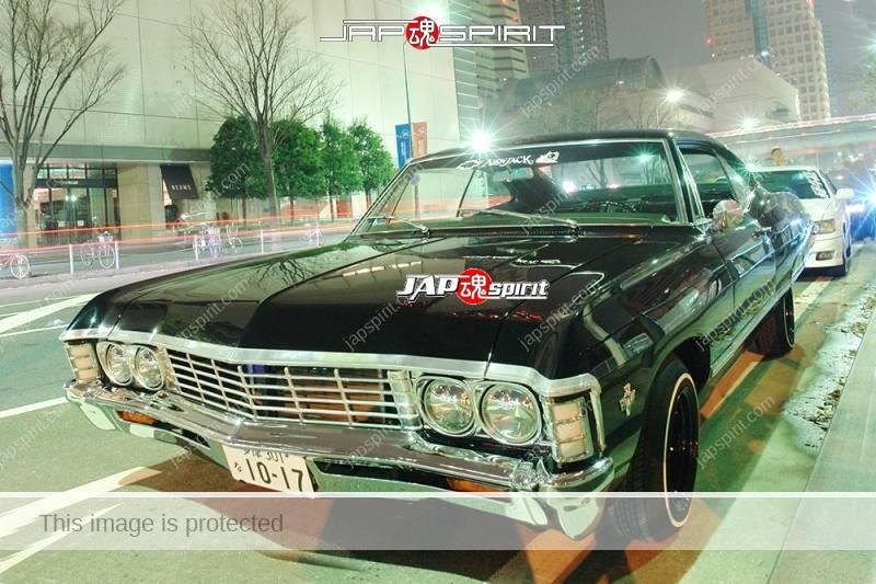 Chevrolet Impala SS 327 Coupé 1966 lowrider style black body at Minatomirai (1)
