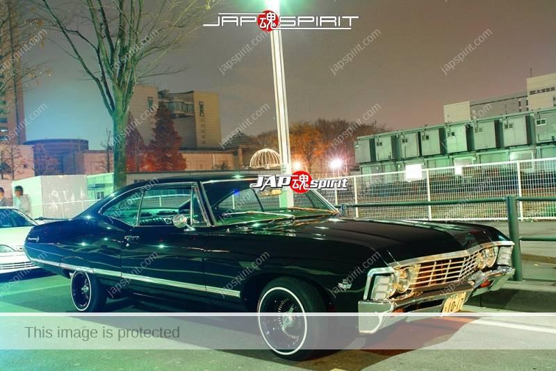 Chevrolet Impala SS 327 Coupé 1966 lowrider style black body at Minatomirai (2)