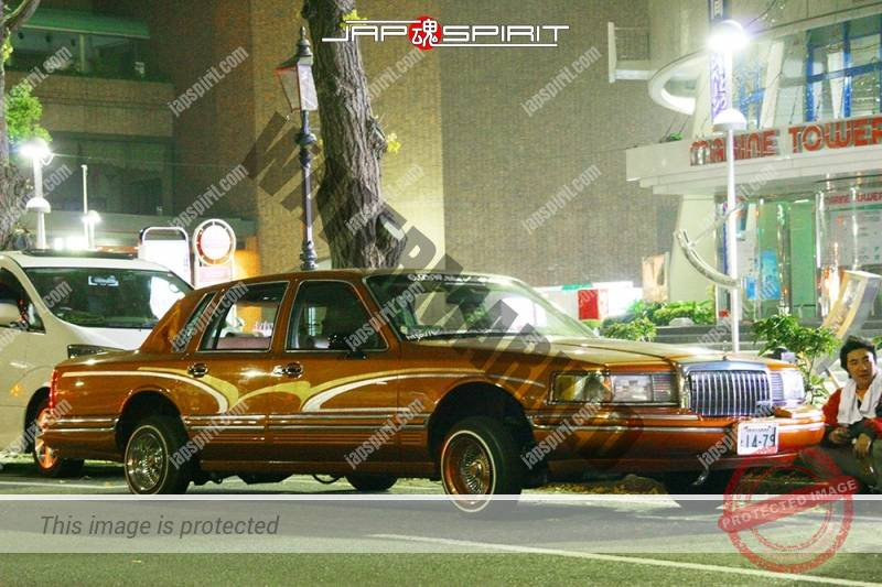 Lincoln Town Car 2nd lowrider style orange color small wild air brush paint (2)