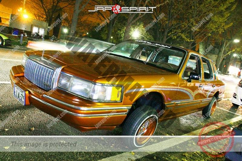 Lincoln Town Car 2nd lowrider style orange color small wild air brush paint (4)