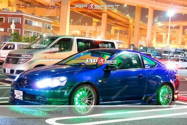 HONDA Acura Integra DC5, USDM style, green lighting & CHROME PLATED WHEEL blue color (2)