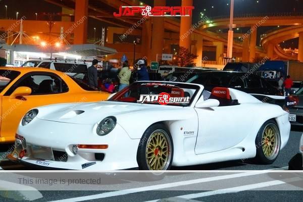 MAZDA RX7 FD, Spokon style, Porsche 993's head lamp & convertible customized, white color (1)