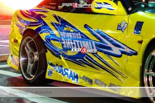 NISSAN 180 Sileighty version, spokon, style, yellow and vinyl graphic (2)