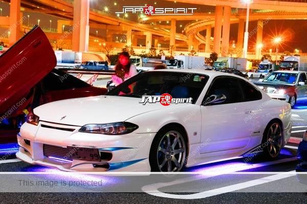 Photo of NISSAN Silvia 7th S15, Spokon style, purple neon under lighting, special shape aero bumper