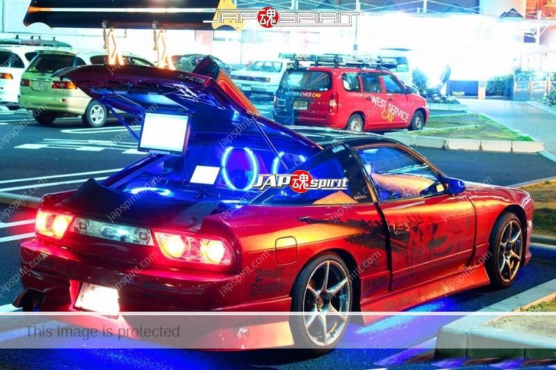 NISSAN 180 swap with Z car S30's front, Spokon style, scissor door and lighting, red color (5)