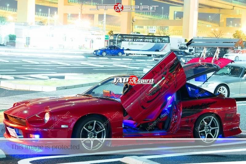 NISSAN 180 swap with Z car S30's front, Spokon style, scissor door and lighting, red color (4)