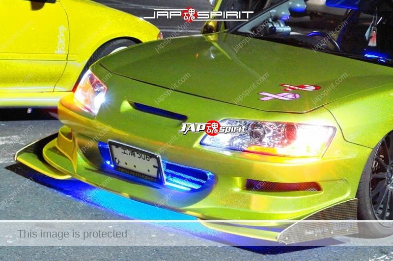 HONDA Integra 3rd Spokon style gold color scissor door blue ligting at Moriya PA (2)