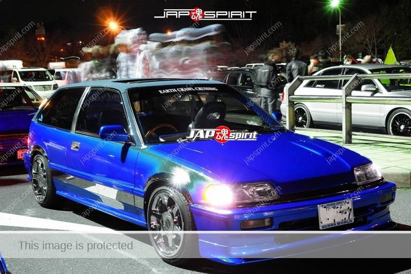 HONDA CIvic 3rd USDM style blue color at Moriya PA, team Earth Crawl crusing (3)