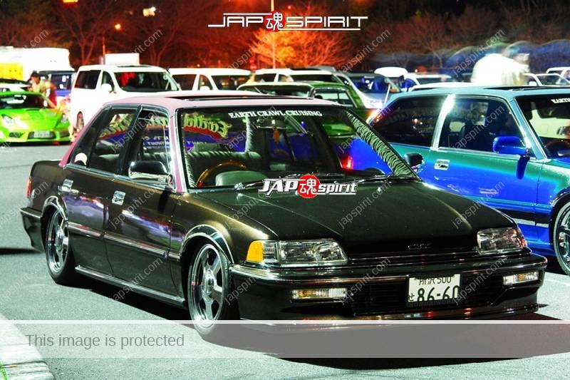 "HONDA Civic 4th EF Sedan USDM Spokon style brown color team ""Earth crawl crusing"" (2)"