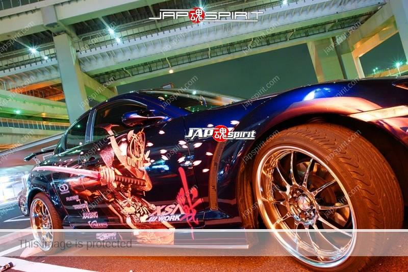 MAZDA RX8, Samurai worrior vinylgrahic with xsa wheel and blue lighting 2 (6)