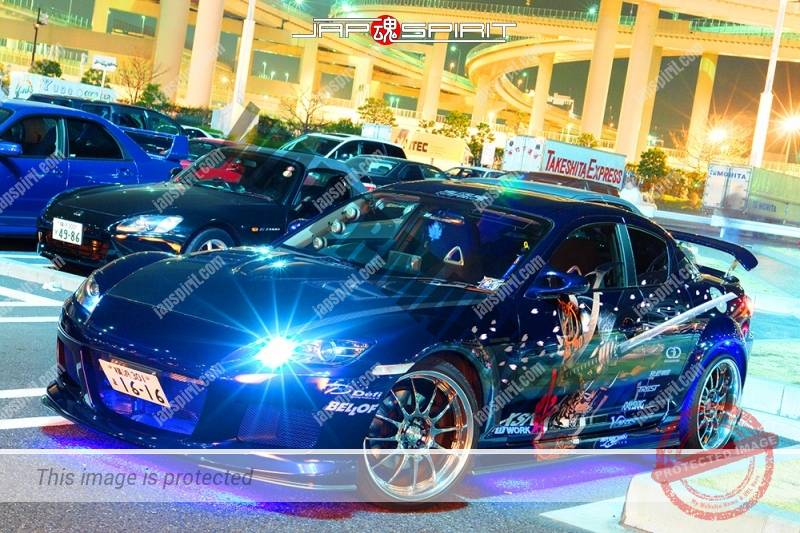 MAZDA RX8, Samurai worrior vinylgrahic with xsa wheel and blue lighting 2 (5)