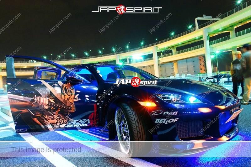 MAZDA RX8, Samurai worrior vinylgrahic with xsa wheel and blue lighting 2 (3)
