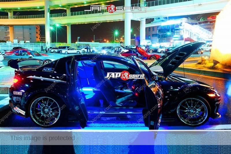 MAZDA RX8, Samurai worrior vinylgrahic with xsa wheel and blue lighting 2 (7)