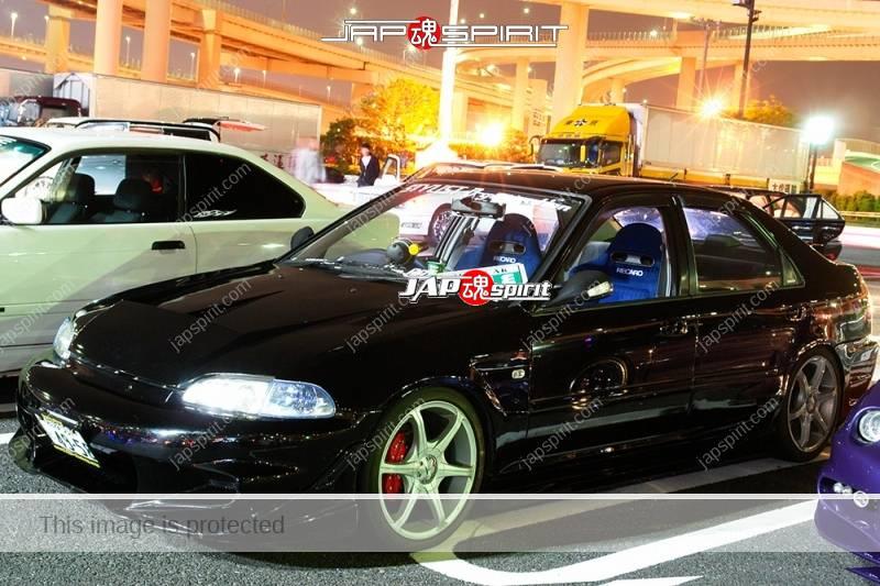 Photo of HONDA Civic Ferio EG9 Spokon style black color sporty spoiler & air duct bonnet