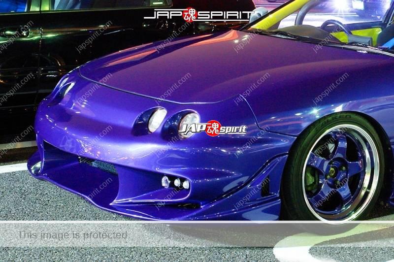 HONDA Integra 3rd spokon style, Blue color, sporty front face (1)