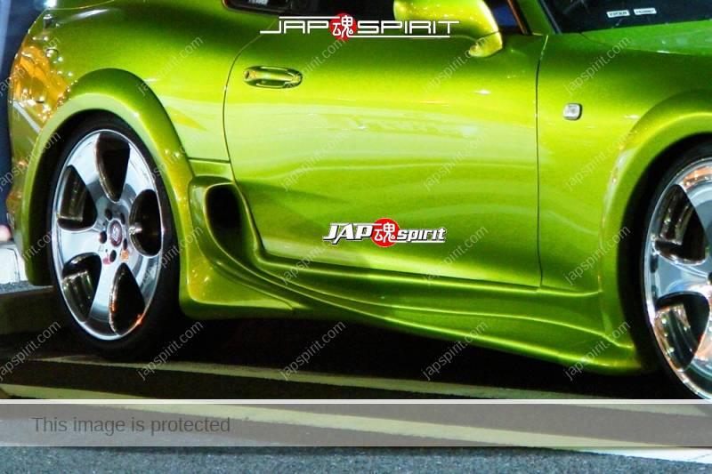 TOYOTA Supra Mark 4th A80, supokon style beautiful light green, stream line spoiler (1)