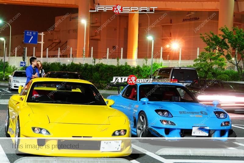 MAZDA RX7 FD Spokon style Re Amemiya light blue with yellow FD (1)