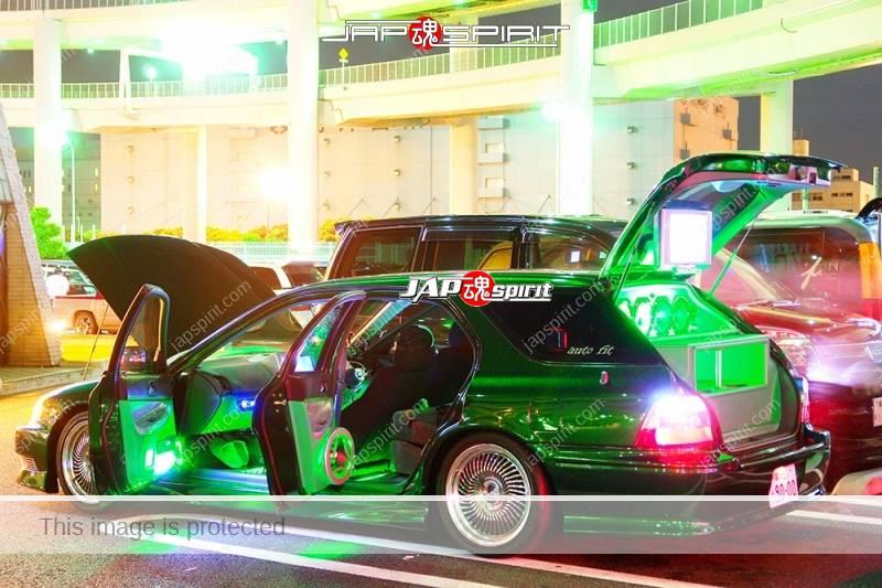 HONDA Accord wagon metallic green with beautiful green lighting up and audio system (5)